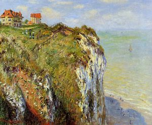 Claude Monet - Steep cliffs at Dieppe Sun