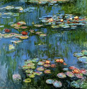 Claude Monet - Water lillies Sun