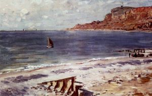 Claude Monet - sailing at sainte adresse