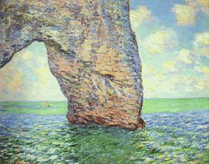 Claude Monet - the manneporte, high seas