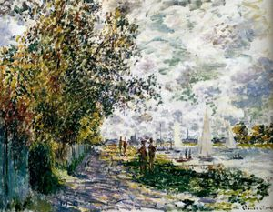 Claude Monet - the riverbank at gennevilliers
