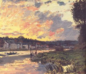 Claude Monet - The Seine at Bougival in the Evening
