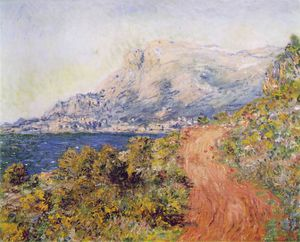 Claude Monet - The Red Road near Menton - -