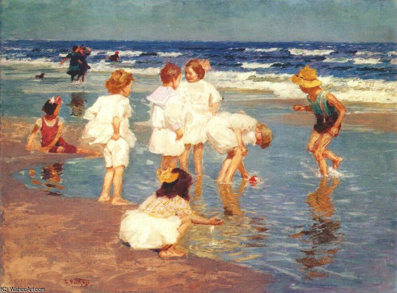famous painting a holiday of Edward Henry Potthast