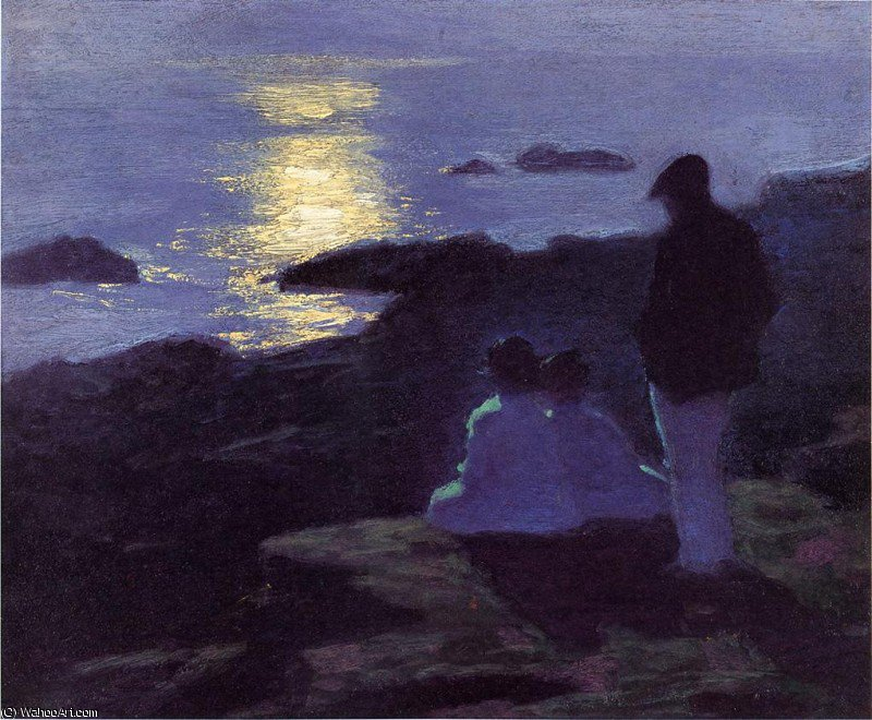 famous painting a summer's night of Edward Henry Potthast