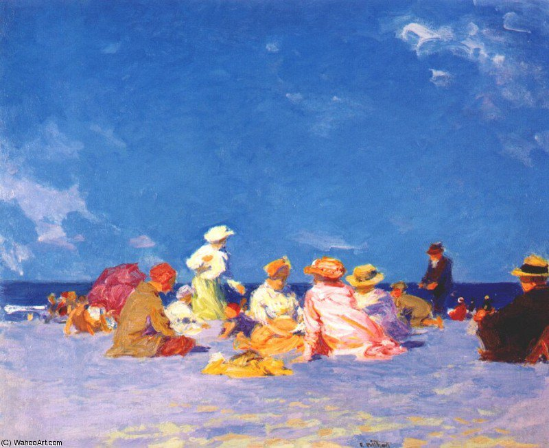 famous painting afternoon fun of Edward Henry Potthast
