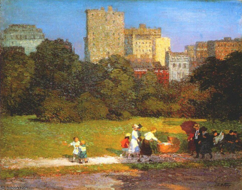 famous painting in central park of Edward Henry Potthast