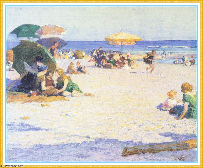 famous painting long beach weather of Edward Henry Potthast
