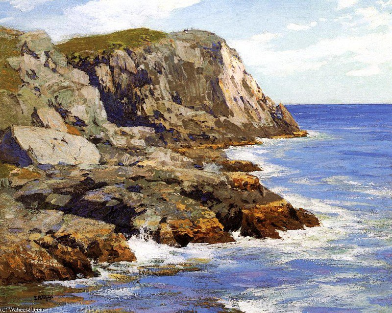 famous painting monhegan of Edward Henry Potthast