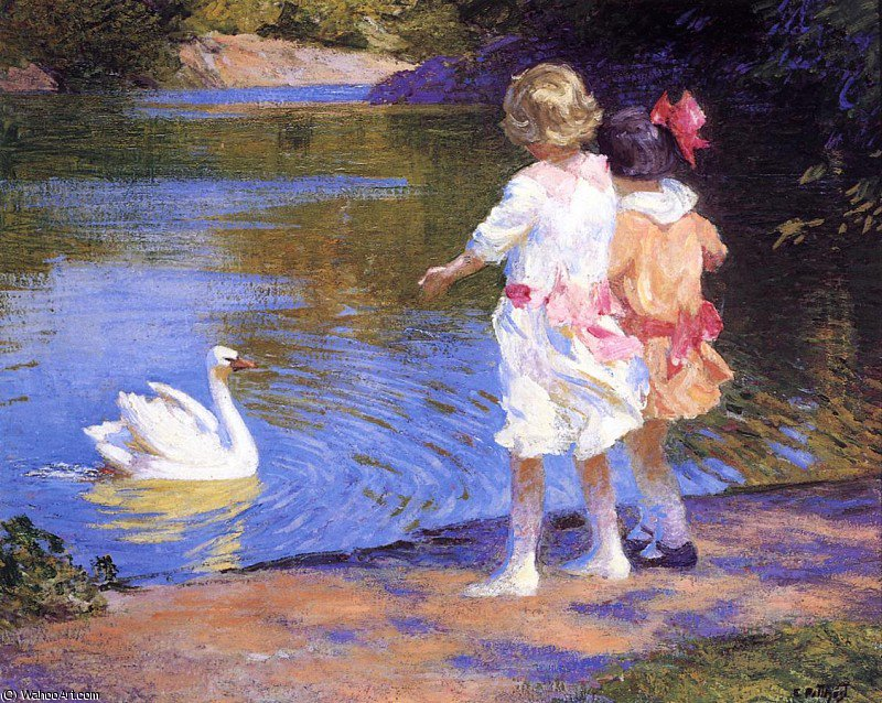 famous painting pothast edward the swan of Edward Henry Potthast