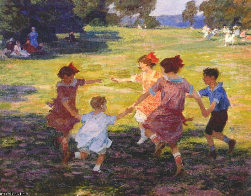 famous painting ring around the rosie of Edward Henry Potthast