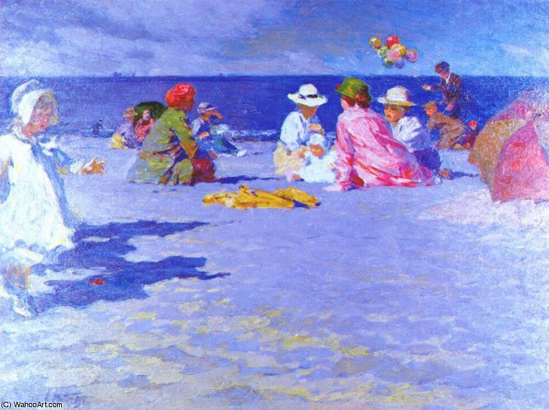 famous painting the balloon vender of Edward Henry Potthast