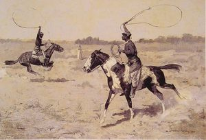 Frederic Remington - It was to be a lasso duel