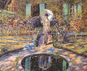 Frederick Carl Frieseke - the garden