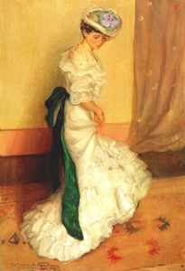 Frederick Carl Frieseke - the green sash