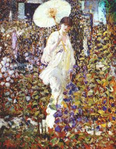 Frederick Carl Frieseke - wind and sun