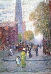 Frederick Childe Hassam - cathedral spires, spring