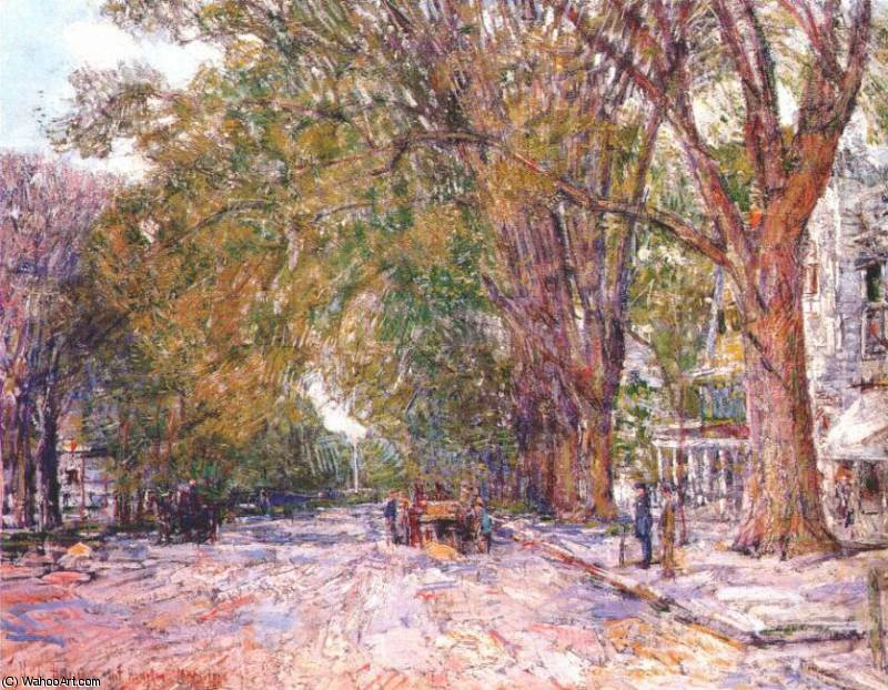 famous painting elms, east hampton, new york of Frederick Childe Hassam