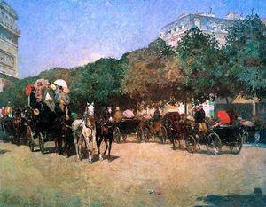Frederick Childe Hassam - Grand prix day Sun
