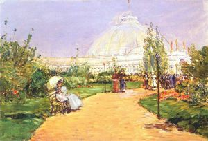 Frederick Childe Hassam - horticultural building, worlds columbian exposition, chicago