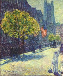 Frederick Childe Hassam - just off the avenue, fifty-third street, may