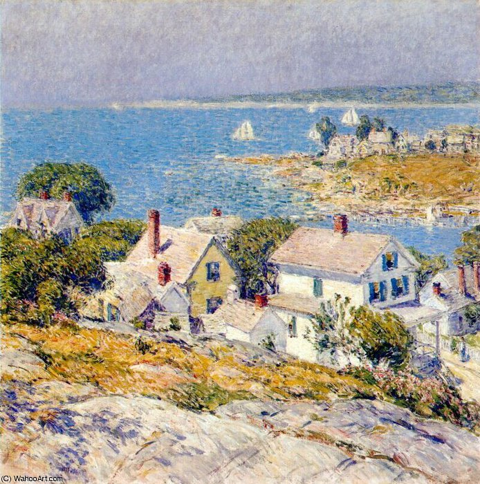 famous painting new england headlands of Frederick Childe Hassam