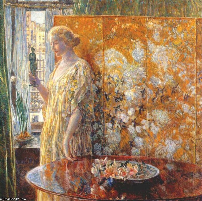 famous painting tanagra (the builders, new york) of Frederick Childe Hassam