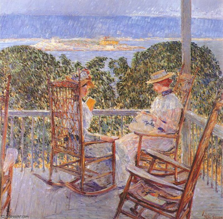 famous painting ten pound island of Frederick Childe Hassam