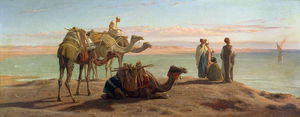 Frederick Goodall - Waiting for the Boat Gulf of Suez