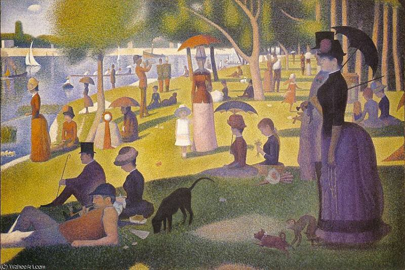famous painting A Sunday Afternoon on the Island of La Grande Jatte of Georges Pierre Seurat