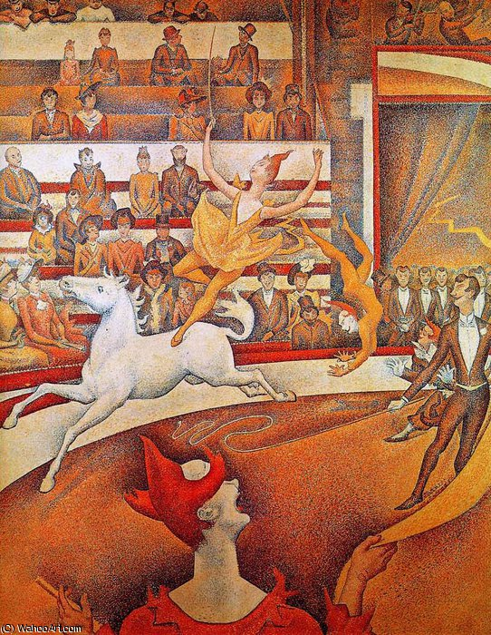famous painting The circus of Georges Pierre Seurat