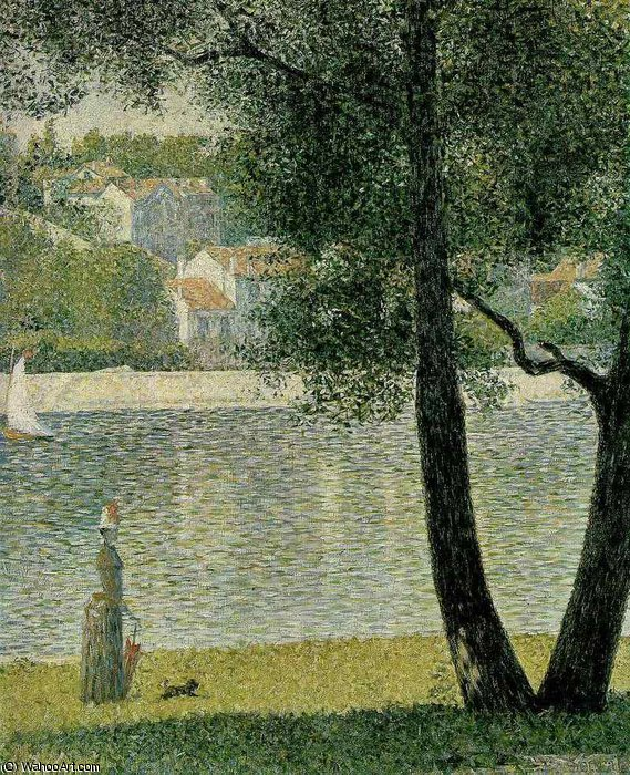 famous painting The Seine at Courbevoie of Georges Pierre Seurat