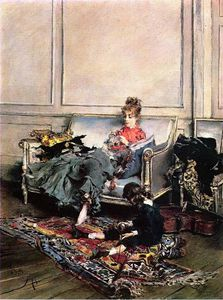 Giovanni Boldini - Peaceful Days aka The Music Lesson