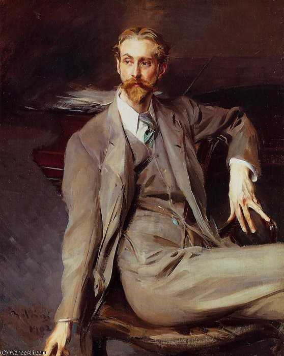 famous painting Portrait of the Artist Lawrence Alexander Peter Brown of Giovanni Boldini