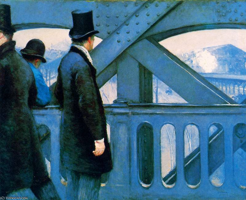 famous painting The Europa bridge Sun of Gustave Caillebotte