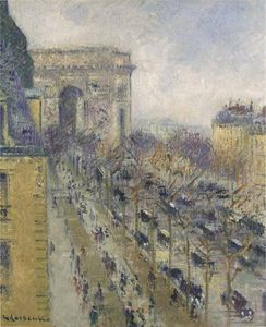 Gustave Loiseau - The Arc de Triomphe. Friedland Avenue