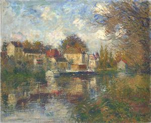 Gustave Loiseau - The Loing at Moret
