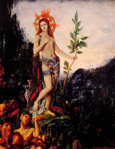 Gustave Moreau - apollo and the satyrs