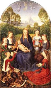 Hans Memling - mystical marriage of st catherine of alexandria