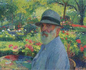 Henri Jean Guillaume Martin - Self Portrait in the Garden