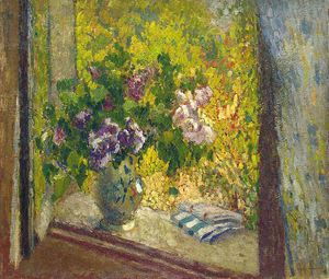 Henri Jean Guillaume Martin - Vase of Flowers in a Window