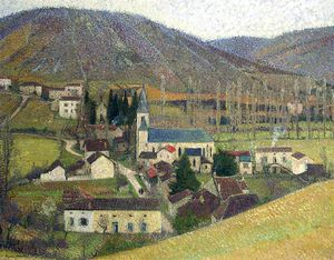 Henri Jean Guillaume Martin - View of Labastide in Gray Weather