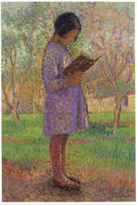Henri Jean Guillaume Martin - young girl reading
