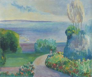 Henri Lebasque - Landscape at Prefailles