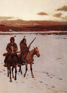 Henry F Farny - the departure of the buffalo hunt -