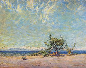 James Edward Hervey Macdonald - a sandy beach, lake ontario