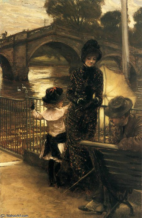 famous painting By the Thames at Richmond of James Jacques Joseph Tissot