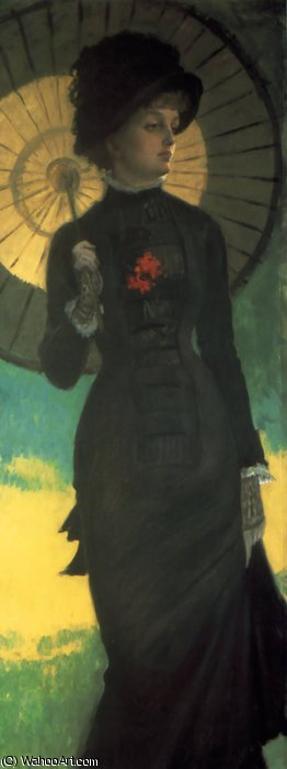 famous painting Mrs Newton with a Parasol of James Jacques Joseph Tissot