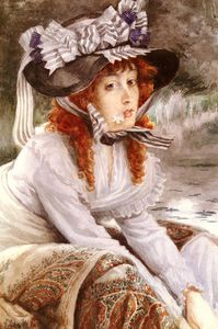 James Jacques Joseph Tissot - on the river