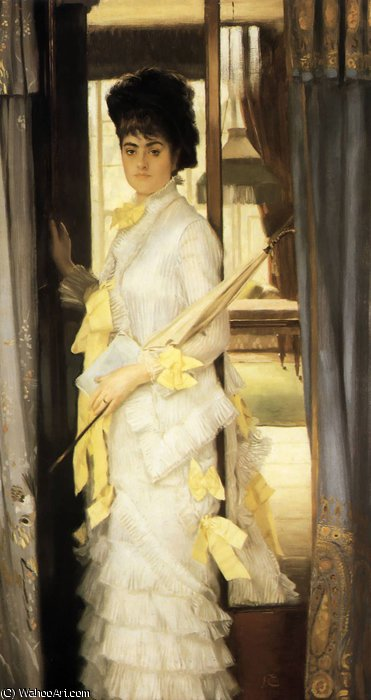 famous painting Portrait of Miss Lloyd of James Jacques Joseph Tissot